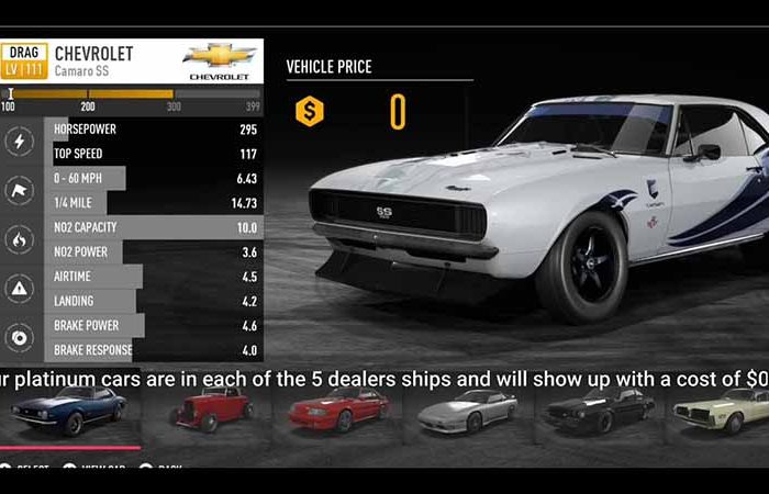 دی ال سی Platinum Car Pack DLC بازی Need for Speed: Payback