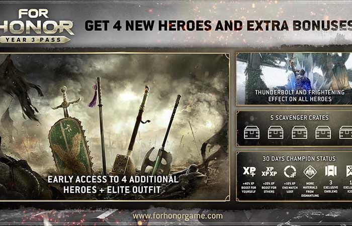سی دی کی For Honor Season Pass Year 3 (سیزن پس 3)